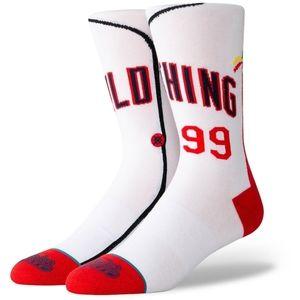 Wild Thing Ricky Cleveland Indians Socks Medium